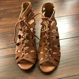 Gladiator Lace Up Wedge Sandals
